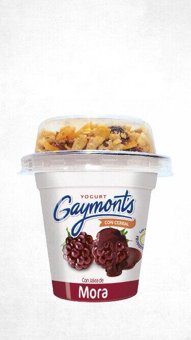 Yogurt Gaymont's sabor mora cereal