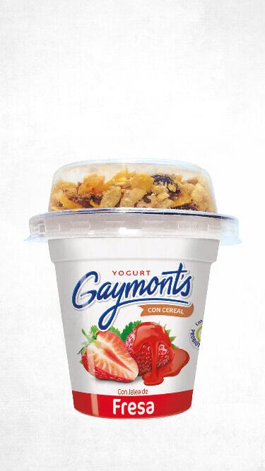 Yogurt Gaymont's sabor fresa cereal