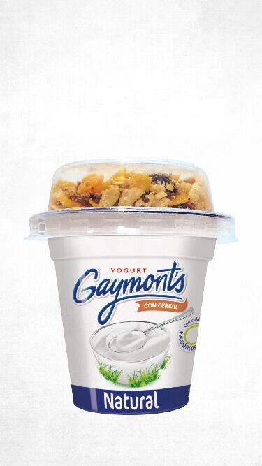 Yogurt Gaymont's sabor natural cereal
