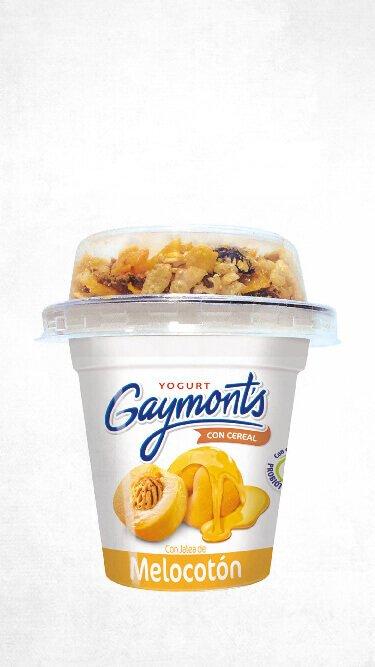Yogurt Gaymont's sabor melocotón cereal