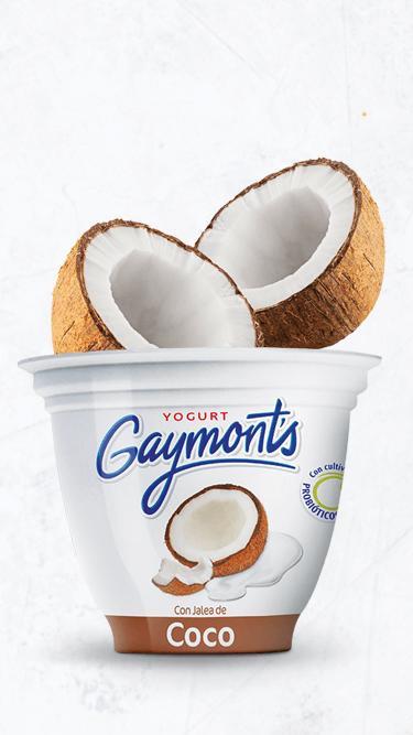 Yogurt Gaymont's sabor coco 125 g