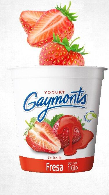 Yogurt Gaymont's sabor fresa 1 Kilo
