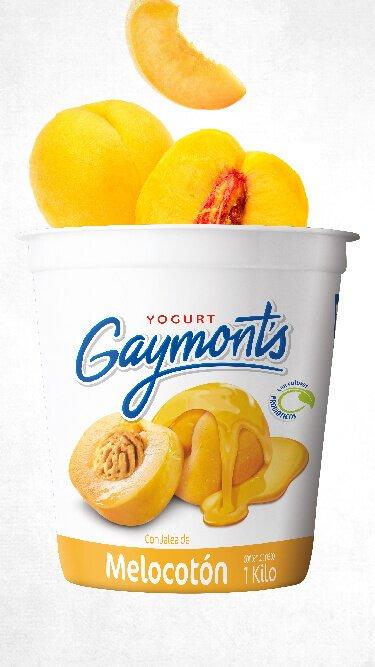 Yogurt Gaymont's sabor melocotón 1 Kilo