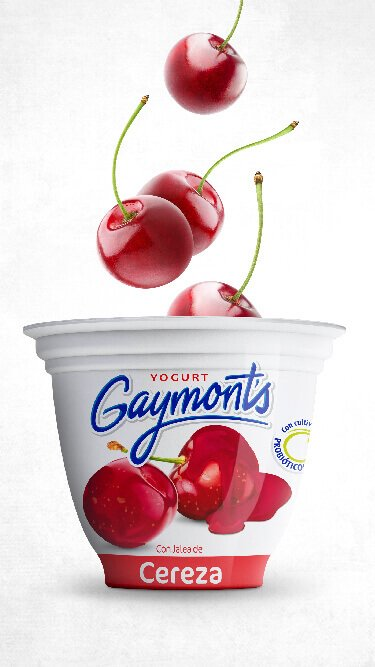 Yogurt Gaymont's sabor cereza 125 g