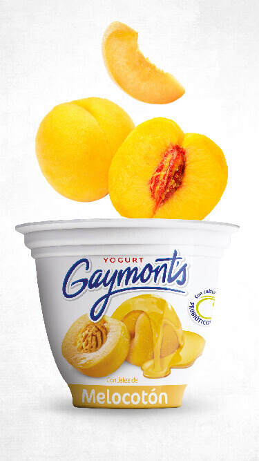 Yogurt Gaymont's sabor melocotón 125 g