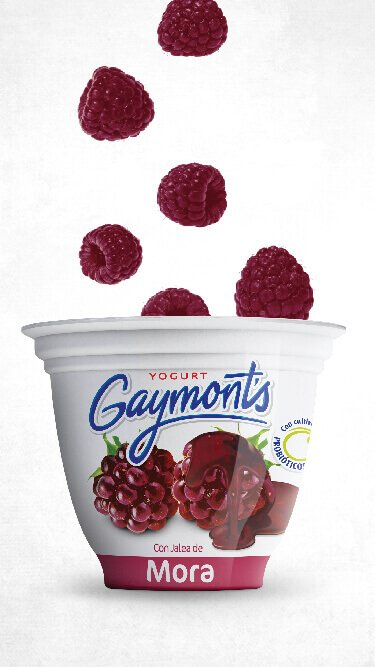 Yogurt Gaymont's sabor mora 125 g