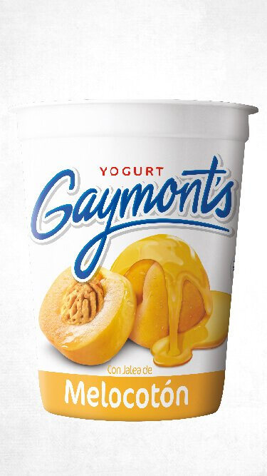Yogurt Gaymont's sabor melocotón 1.25 Kilos
