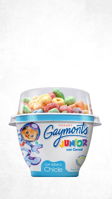 Yogurt Gaymont's Junior sabor chicle 100g