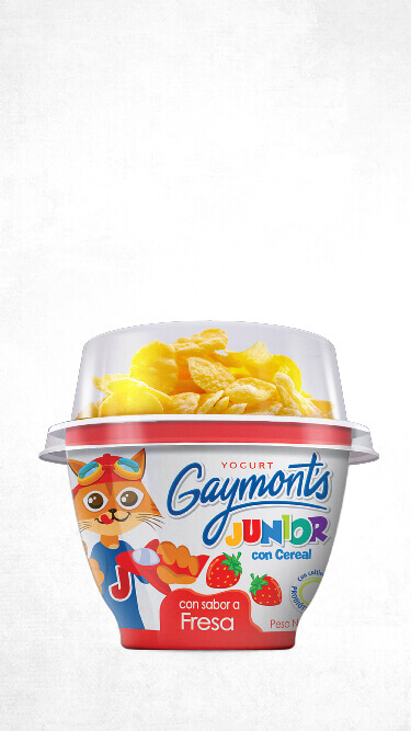 Yogurt Gaymont's Junior sabor fresa 100g